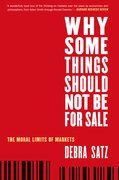 Cover for Why Some Things Should Not Be for Sale
