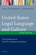 Cover for United States Legal Language and Culture
