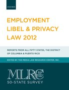 Cover for MLRC 50-State Survey: Employment Libel & Privacy Law 2012