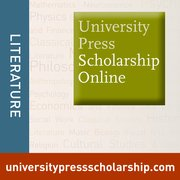 Cover for University Press Scholarship Online: Literature