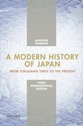 Cover for A Modern History of Japan, International Edition
