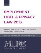 Cover for MLRC 50-State Survey: Employment Libel & Privacy Law 2013