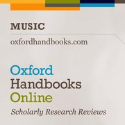 Cover for Oxford Handbooks Online: Music