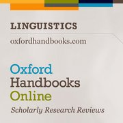 Cover for Oxford Handbooks Online: Linguistics