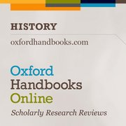Cover for Oxford Handbooks Online: History