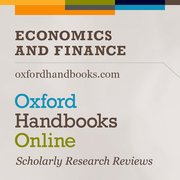 Cover for Oxford Handbooks Online: Economics and Finance