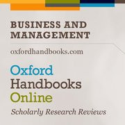 Cover for Oxford Handbooks Online: Business and Management