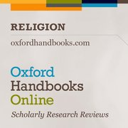 Cover for Oxford Handbooks Online: Religion