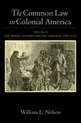Cover for The Common Law in Colonial America