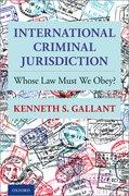 Cover for International Criminal Jurisdiction