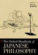 Cover for The Oxford Handbook of Japanese Philosophy