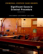 Cover for Significant Cases in Criminal Procedure