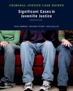 Cover for Significant Cases in Juvenile Justice
