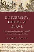 Cover for University, Court, and Slave
