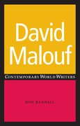 Cover for David Malouf