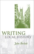 Cover for Writing local history