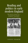 Cover for Reading and Politics in Early Modern England