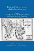 Cover for India and Europe in the Global Eighteenth Century