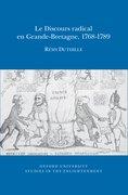 Cover for Le Discours radical en Grande-Bretagne, 1768-1789