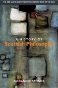 Cover for A History of Scottish Philosophy