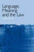 Cover for Language, Meaning and the Law