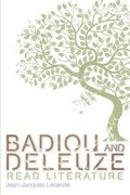 Cover for Badiou and Deleuze Read Literature