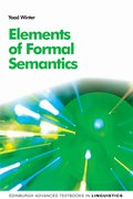 Cover for Elements of Formal Semantics - 9780748640430