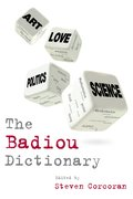 Cover for The Badiou Dictionary