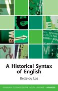 Cover for A Historical Syntax of English