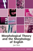 Cover for Morphological Theory and the Morphology of English