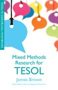 Cover for Mixed Methods Research for TESOL