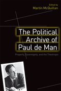 Cover for The Political Archive of Paul de Man