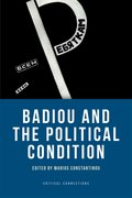 Cover for Badiou and the Political Condition