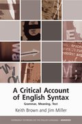 Cover for A Critical Account of English Syntax