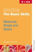 Cover for Maths the Basic Skills Measures, Shape & Space Worksheet Pack E1/E2