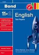 Cover for Bond 11+ Test Papers English Standard Pack 1