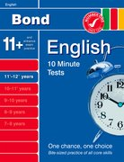 Cover for Bond 10 Minute Tests English 11-12+ years