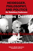 Cover for Heidegger, Philosophy, and Politics - 9780823273669