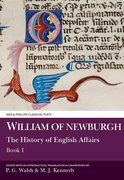 Cover for William of Newburgh: The History of English Affairs