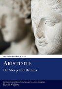 Cover for Aristotle: On Sleep and Dreams