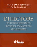 Cover for 41st Directory of History Depts. 15-16