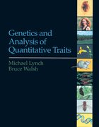 Cover for Genetics and Analysis of Quantitative Traits