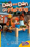 Cover for Dad and Dan Go Fishing Fast Lane Yellow Fiction