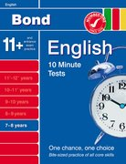 Cover for Bond 10 Minute Tests English 7-8 years