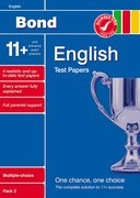 Cover for Bond 11+ Test Papers English Multiple Choice Pack 2