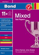 Cover for Bond 11+ Test Papers Mixed Pack 2 Multiple Choice