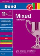 Cover for Bond 11+ Test Papers Mixed Pack 2 Standard