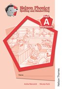 Cover for Nelson Phonics Spelling and Handwriting Red Workbooks A (10)