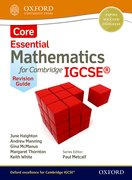 Cover for Mathematics for (Cambridge) IGCSE Core Revision Guide