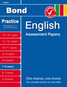 Cover for Bond English Assessment Papers 7-8 years
